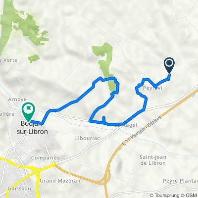 Itinéraire vers 1–6 Impasse de la Distillerie, Boujan-sur-Libron