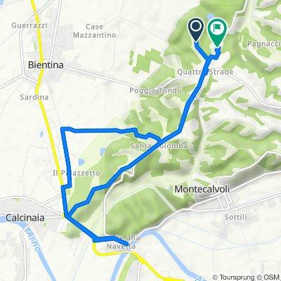 Via del Ghinghero 13, Bientina to Via Valdinievole Nord 78/B, Bientina