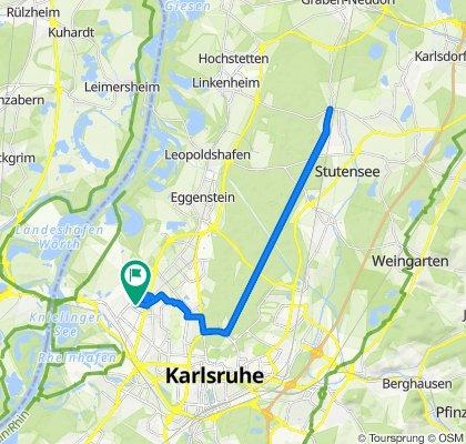 Ferdinand-Keller-Straße 21–27, Karlsruhe nach Ferdinand-Keller-Straße 25, Karlsruhe