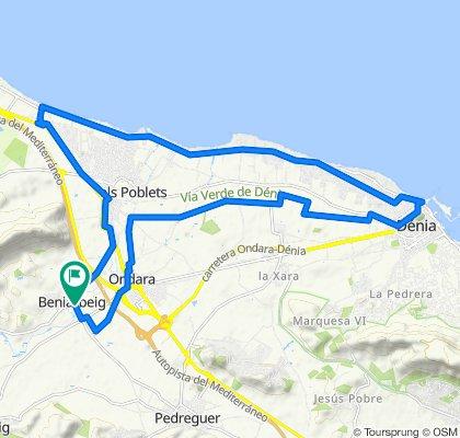 Route 07 : El Verger - Ctra Las marinas - Denia