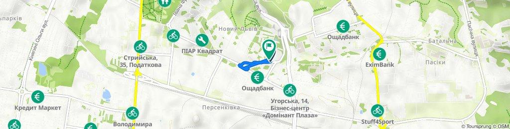От ул. Литвиненко, Львів до вулиця Героїв Крут 66Ж, Львів