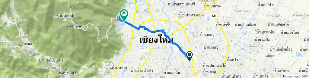 10 Soi Tonkam 2, Mueang Chiang Mai to Soi Huai Kaeo, Mueang Chiang Mai