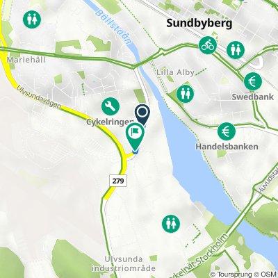 Karlsbodavägen 21, Stockholm to Karlsbodavägen 5, Stockholm
