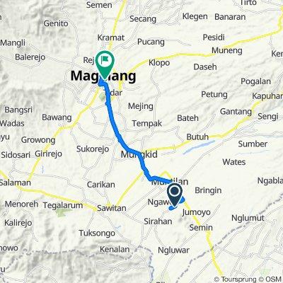 Ngasem, Kecamatan Salam to Jalan Pemuda 97, Kecamatan Magelang Tengah