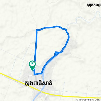 Route to Unnamed Road, Krong Pursat