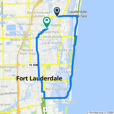 De Northeast 50th Street 5, Fort Lauderdale a North Dixie Highway 4061, Oakland Park