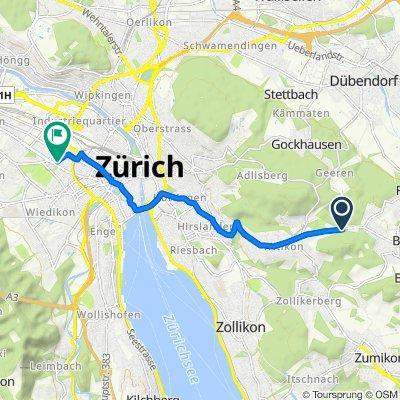 Witikonerstrasse, Zürich nach Agnesstrasse 27, Zürich