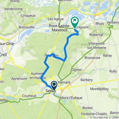 Senlis to Pontpoint via Forest & Fleurines