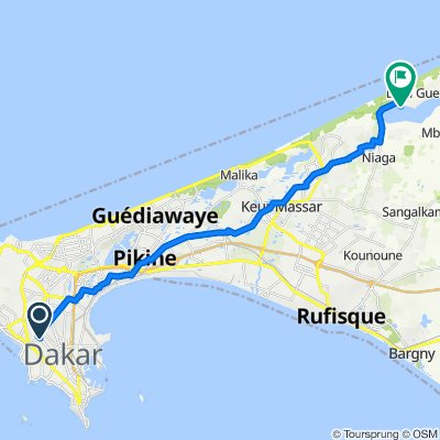 Allees Seydou Nourou Tall 4012, Dakar to Unnamed Road
