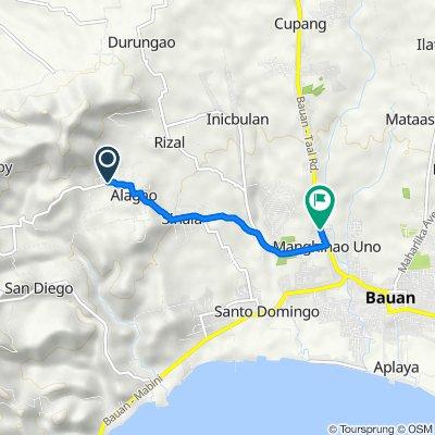Unnamed Road, Bauan to Palico - Balayan - Batangas Road, Bauan