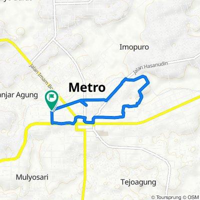Jalan Maulana 19, Kecamatan Metro Pusat to Jalan Maulana 19, Kecamatan Metro Pusat