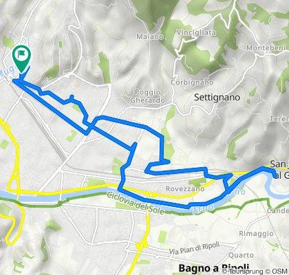Da Via Fra' Jacopo Passavanti 34, Firenze a Via Fra' Jacopo Passavanti 31, Firenze