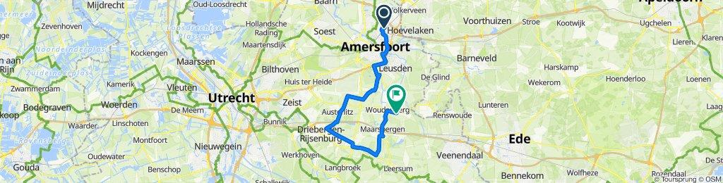 Erasmusstraat 41, Amersfoort naar Van Steenbergenlaan 5, Woudenberg
