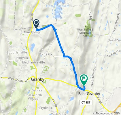33 Zimmer Rd, Granby to 10 Metacomet Dr, East Granby