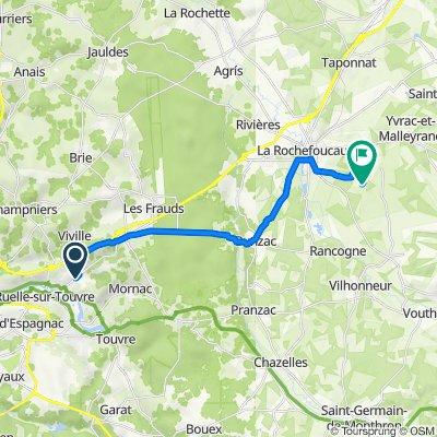 De 706 Avenue du Maréchal Foch, Ruelle-sur-Touvre à 43 La Croutelle, Marillac-le-Franc