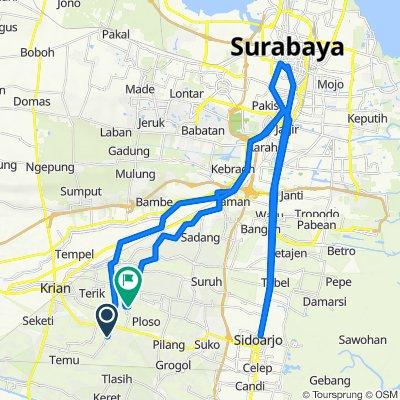 Jalan Kh Amin, Kecamatan Wonoayu to Unnamed Road, Kecamatan Wonoayu