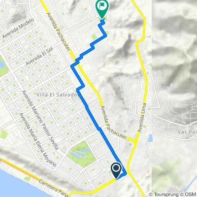 Ruta desde Avenida Maria Reiche S, Villa EL Salvador