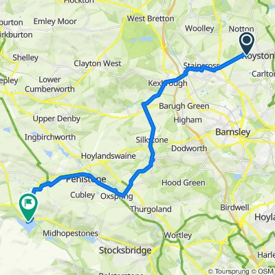 Route from 18–40 The Pastures, Royston, Barnsley
