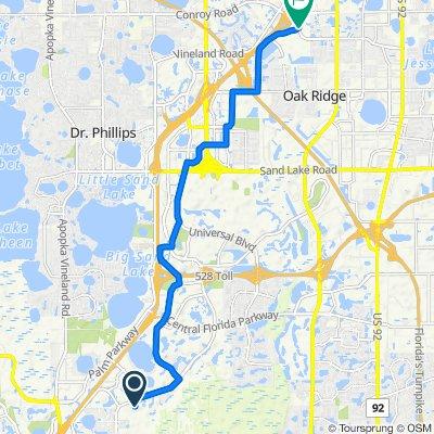 Lake Square Circle 12501, Orlando to Conroy Road 4198, Orlando