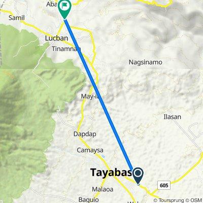 Tayabas - Pagbilao Road to Lucban - Luisiana Road