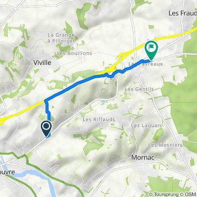 De 739 Avenue du Maréchal Foch, Ruelle-sur-Touvre à 14 Route de la Braconne, Mornac