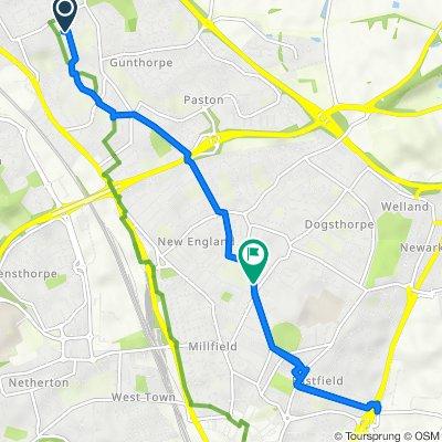 4 Storrington Way, Peterborough to 283 Dogsthorpe Road, Peterborough