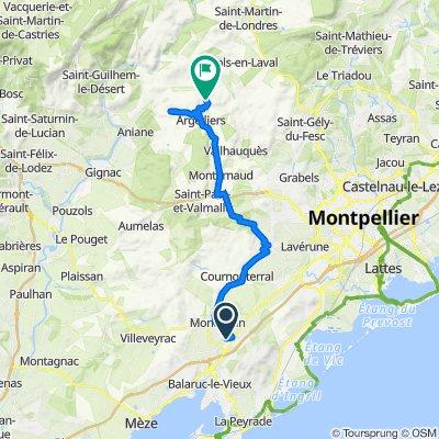 De Rue de la Magette 8, Gigean à Route de Viols le Fort, Argelliers