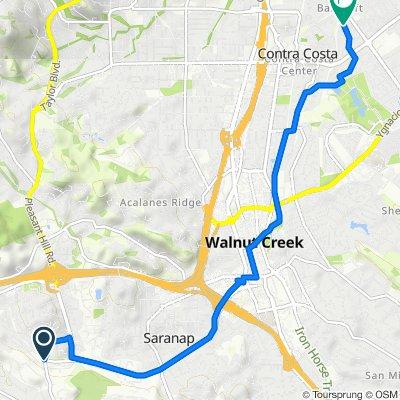 Lafayette Moraga Trail, Lafayette to 1969 Countrywood Ct, Walnut Creek