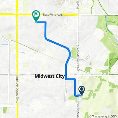 Bradley Circle 621, Midwest City to West Pratt Drive 212, Midwest City