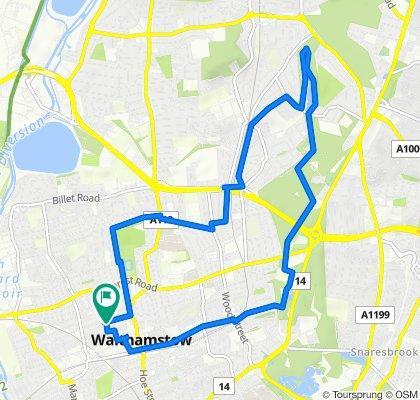 Walthamstow Central - Highams Park Lake - Circular