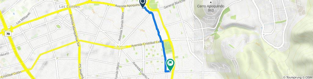 De Braganza 8261, Las Condes a Avenida Alejandro Fleming 8910–8912, Las Condes