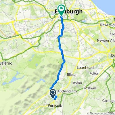39 Dykes Road, Penicuik to Usher hall, 69 Lothian Road, Edinburgh