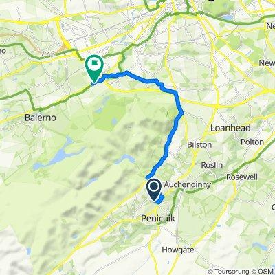 49 Dykes Road, Penicuik to 1 Baberton Loan, Edinburgh