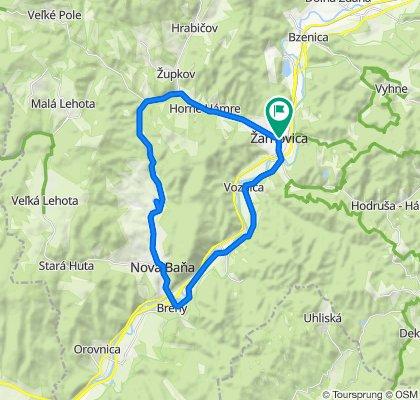 Žarnovica - Voznica - Brehy - Nová Baňa - Tajch - Horné Hámre