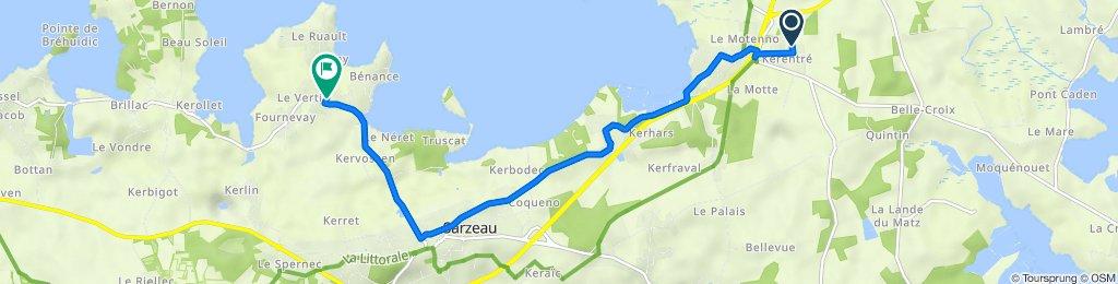 De Sarzeau à Route de Saint-Martin 23, Sarzeau
