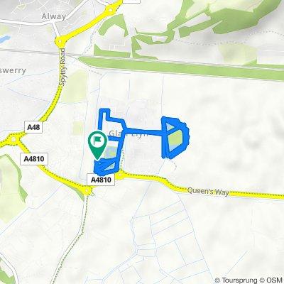12 Lydney Walk, Newport to 12 Lydney Walk, Newport