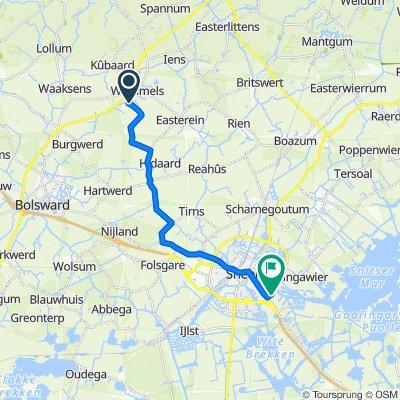 De Homeie 31, Wommels naar Pieter Zeemanstraat 5, Sneek