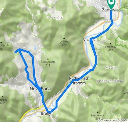 Žarnovica - Voznica - Brehy - Nová Baňa - Zajačia Dolina