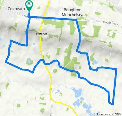 40 Murdoch Chase, Maidstone to 1–3 Kennards Road, Coxheath, Maidstone