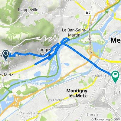De 9–11 Chemin des Noques, Scy-Chazelles à 25B Rue Saint-Pierre, Metz