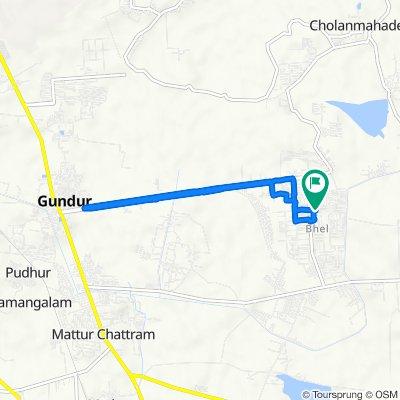 2nd Stop Main Road, Navalpattu to 2nd Stop Main Road, Navalpattu
