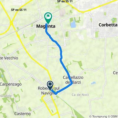 Da Via Roma 47, Robecco sul Naviglio a Via Pusterla 16, Magenta