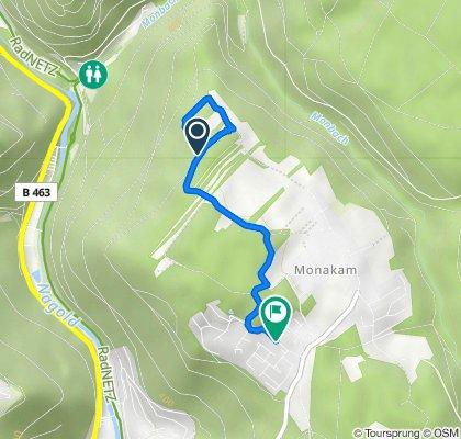 Route nach Am Hährenwald 13, Bad Liebenzell