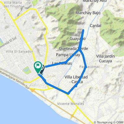 De Lima, Lurín a Avenida Separadora Industrial 22, Distrito de Lima
