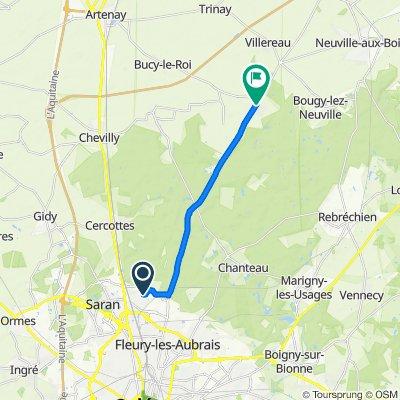 De 122 Allée des Bichardières, Saran à 15 Route d'Orléans, Saint-Lyé-la-Forêt
