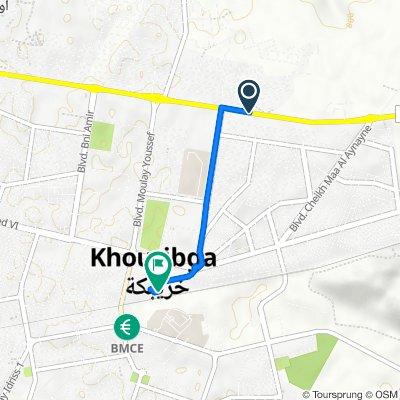 Itinéraire à partir de RN12, Khouribga