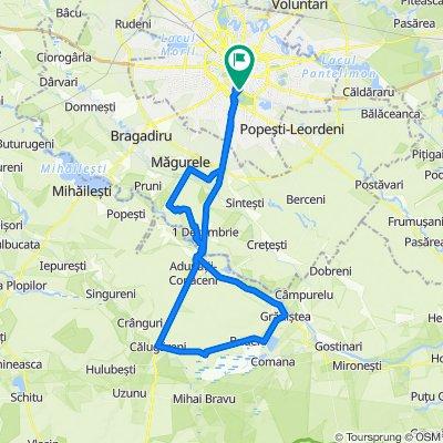 Bucuresti - Alunisu - 1 Decembrie - Varlaam - Gradistea - Calugareni - Adunatii-Copaceni - Bucuresti