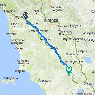 Rome 9: Altopascio - Abbadia San Salvatore 162 km