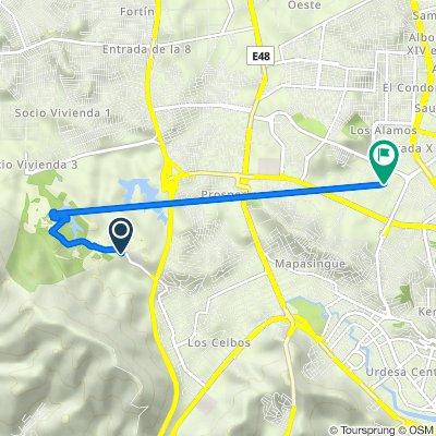 De Avenida Principal de la ESPOL, Guayaquil a Calle 18I NO 104-1, Guayaquil