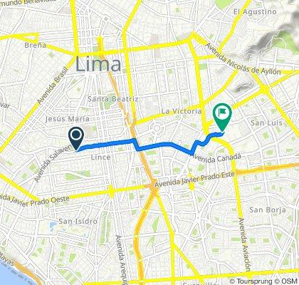 De Jirón Belisario Flores, Lima a Cayra, Lima